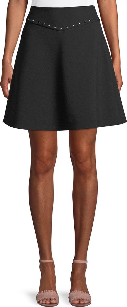 Kate Spade New York crepe studded mini skirt