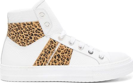 Amiri Leather & Calf Hair Sunset Sneakers