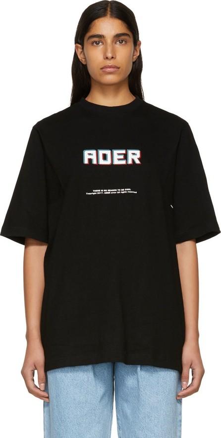 ADER error SSENSE Exclusive Black Logo T-Shirt