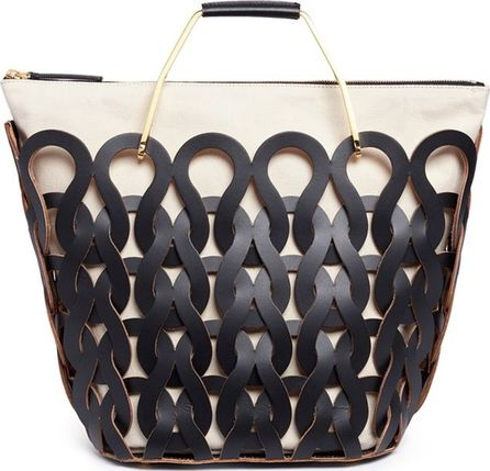 Marni 'Tricot' knit effect leather openwork tote