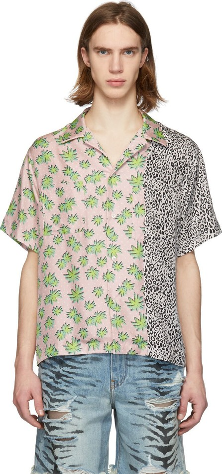 Amiri Pink Split Palm Leopard Shirt