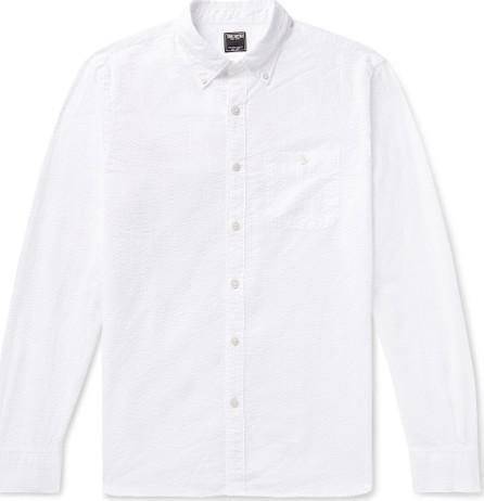 Todd Snyder Slim-Fit Button-Down Collar Striped Cotton-Seersucker Shirt