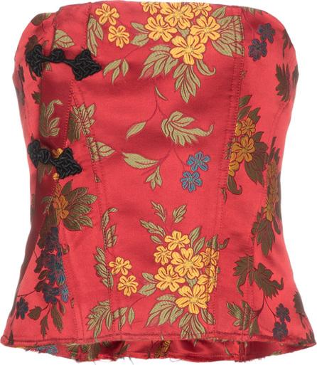 Marques'Almeida Floral brocade corset top
