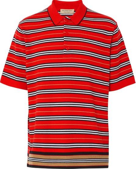 Burberry London England Red Icon Stripe Polo Shirt