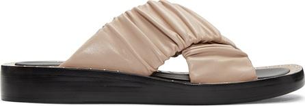 3.1 Phillip Lim Beige Ruched Sandals