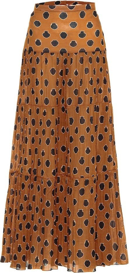 Johanna Ortiz Historical Evidence cotton maxi skirt