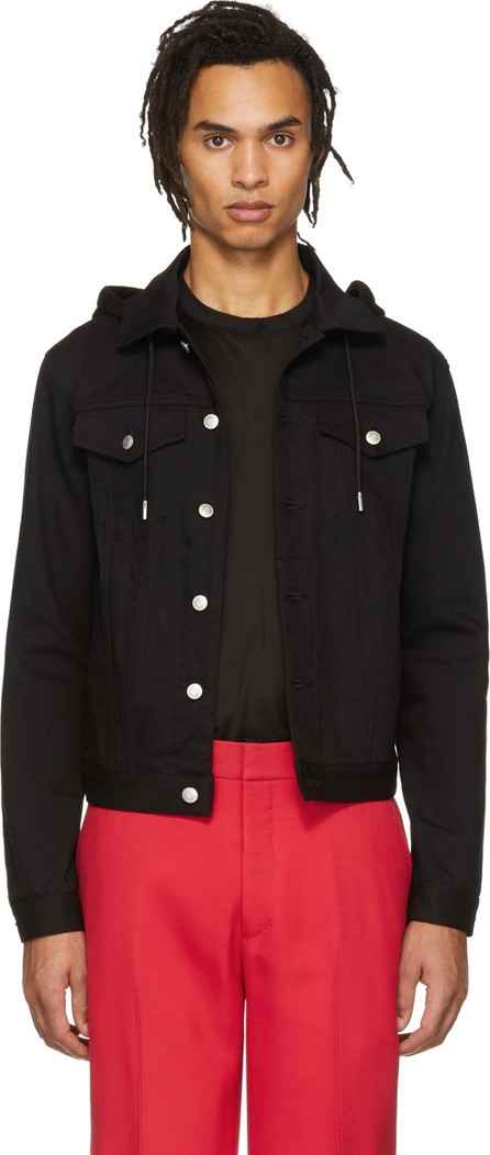 Alexander McQueen Black Denim Sweatshirt Jacket