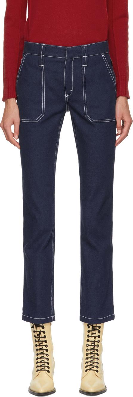 Chloe Blue Large Pocket Jeans