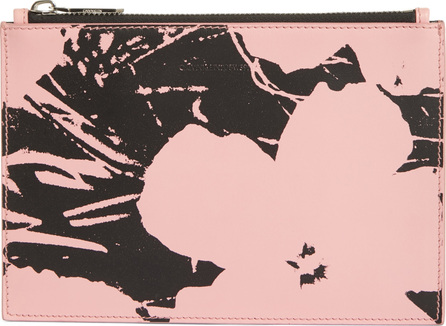 Calvin Klein 205W39NYC x Andy Warhol Foundation Flowers Leather Pouch
