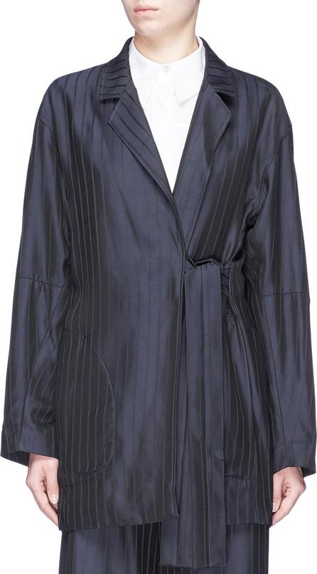 Acne Studios 'Jabin' pinstripe belted twill coat