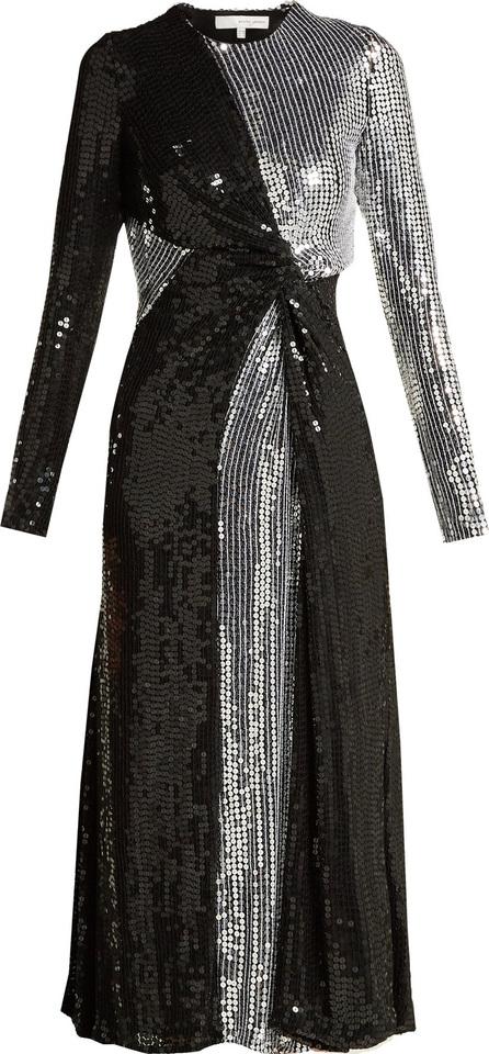 Galvan Pinwheel sequinned silk dress