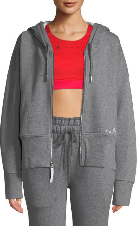 Adidas By Stella McCartney Essentials Zip-Front Hoodie Sweatshirt