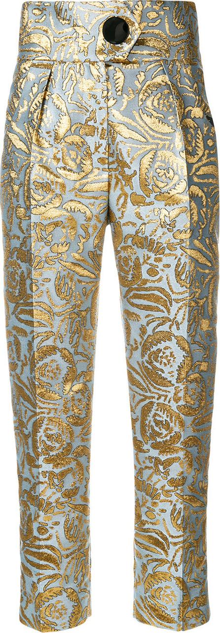 Petar Petrov Hedy floral jacquard trousers