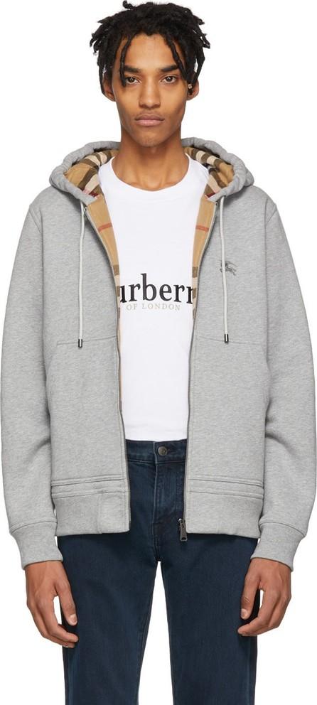 Burberry London England Grey Core Hoodie