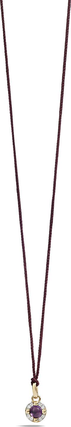Pomellato M'ama Non M'ama Pendant Necklace in Rose Gold with Amethyst & Diamonds