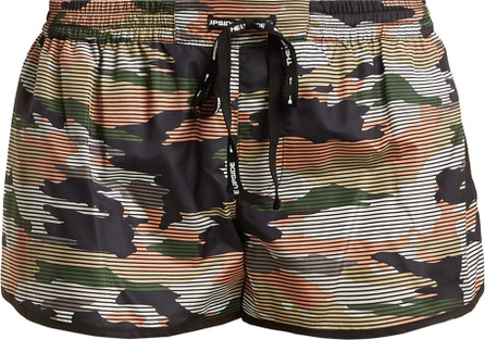 The Upside Striped camouflage-print performance shorts