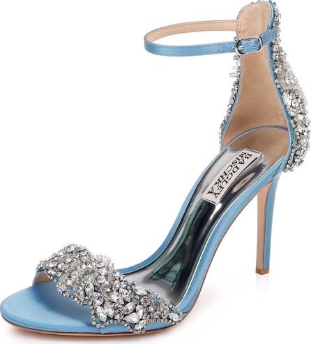 Badgley Mischka Fabiana Embellished Satin Sandals