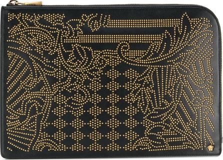 Versace Zipped studded organiser