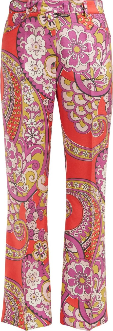 Etro Coconuts paisley-print silk trousers
