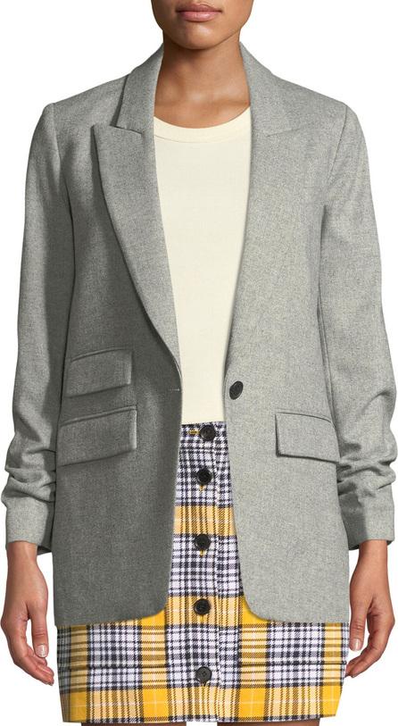 Veronica Beard Martel Single-Button Wool Dickey Jacket