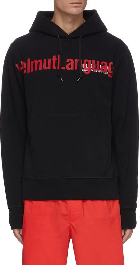 Helmut Lang Slogan print cotton hoodie