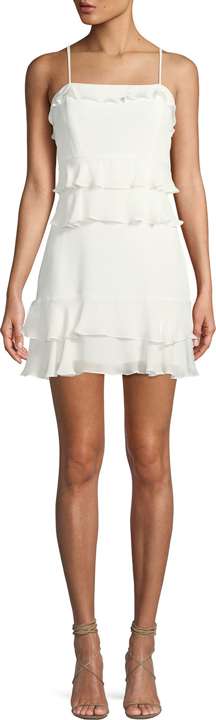 Parker Kristie Sleeveless Tiered Mini Dress