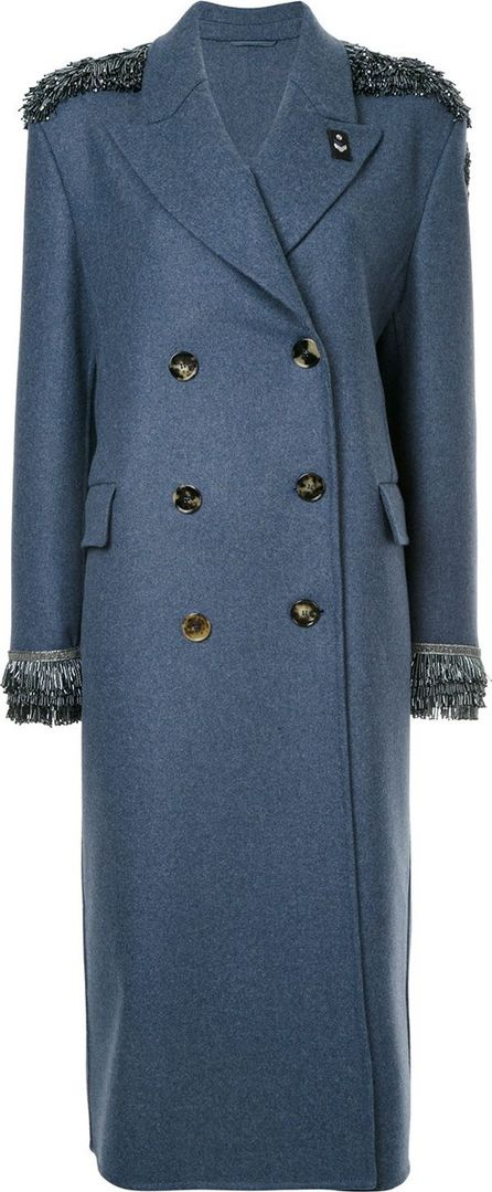 Ermanno Scervino sequin detailed double breasted coat