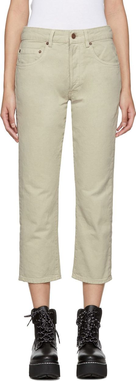 6397 Beige Shorty Jeans