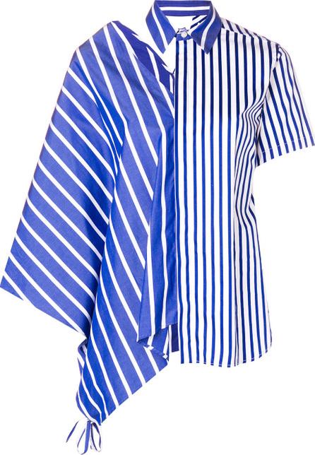 FACETASM Striped asymmetric shirt