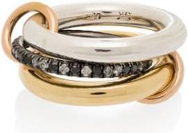 Spinelli Kilcollin 18K yellow gold Libra diamond ring