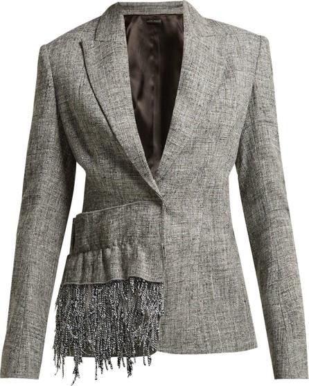 Carl Kapp Frill-trim tweed blazer