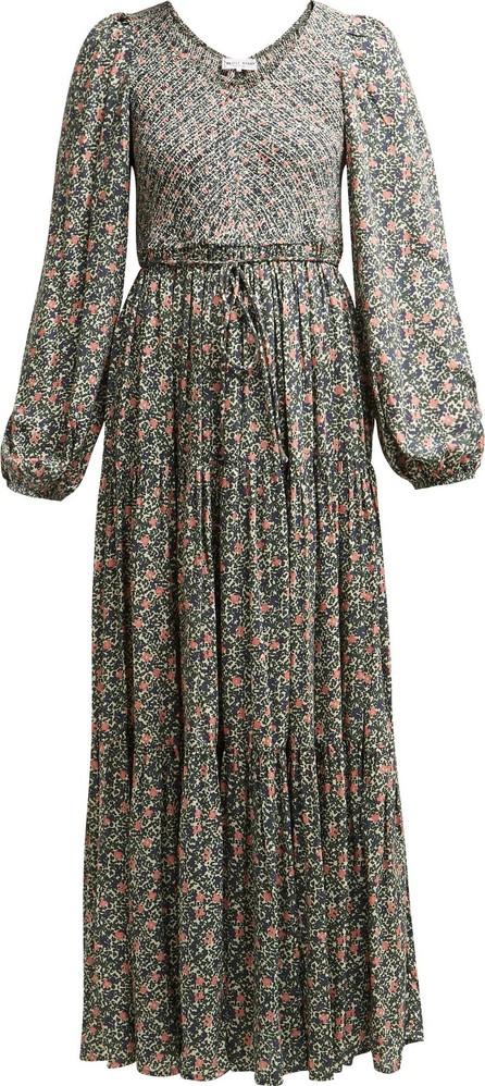 APIECE APART Olivia shirred floral-print jersey dress