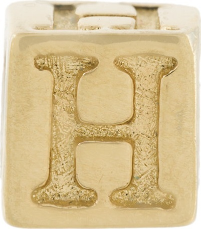 Abril Barret 'H' initial stud earring