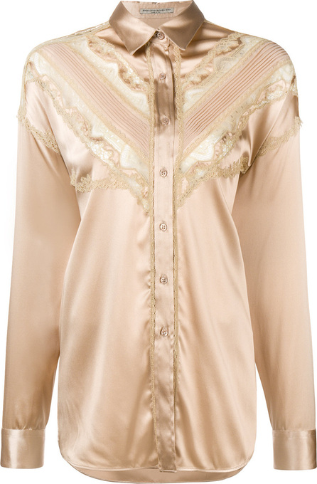 Ermanno Scervino Lace trim satin shirt