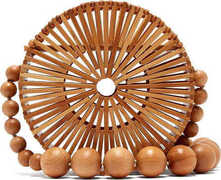 Cult Gaia Luna bamboo basket bag