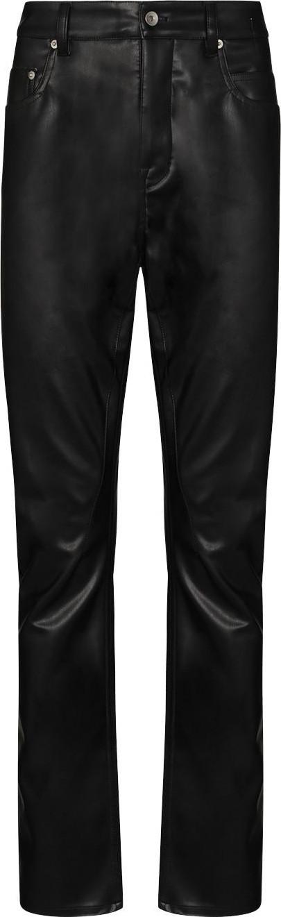 Rick Owens DRKSHDW Detroit faux leather trousers