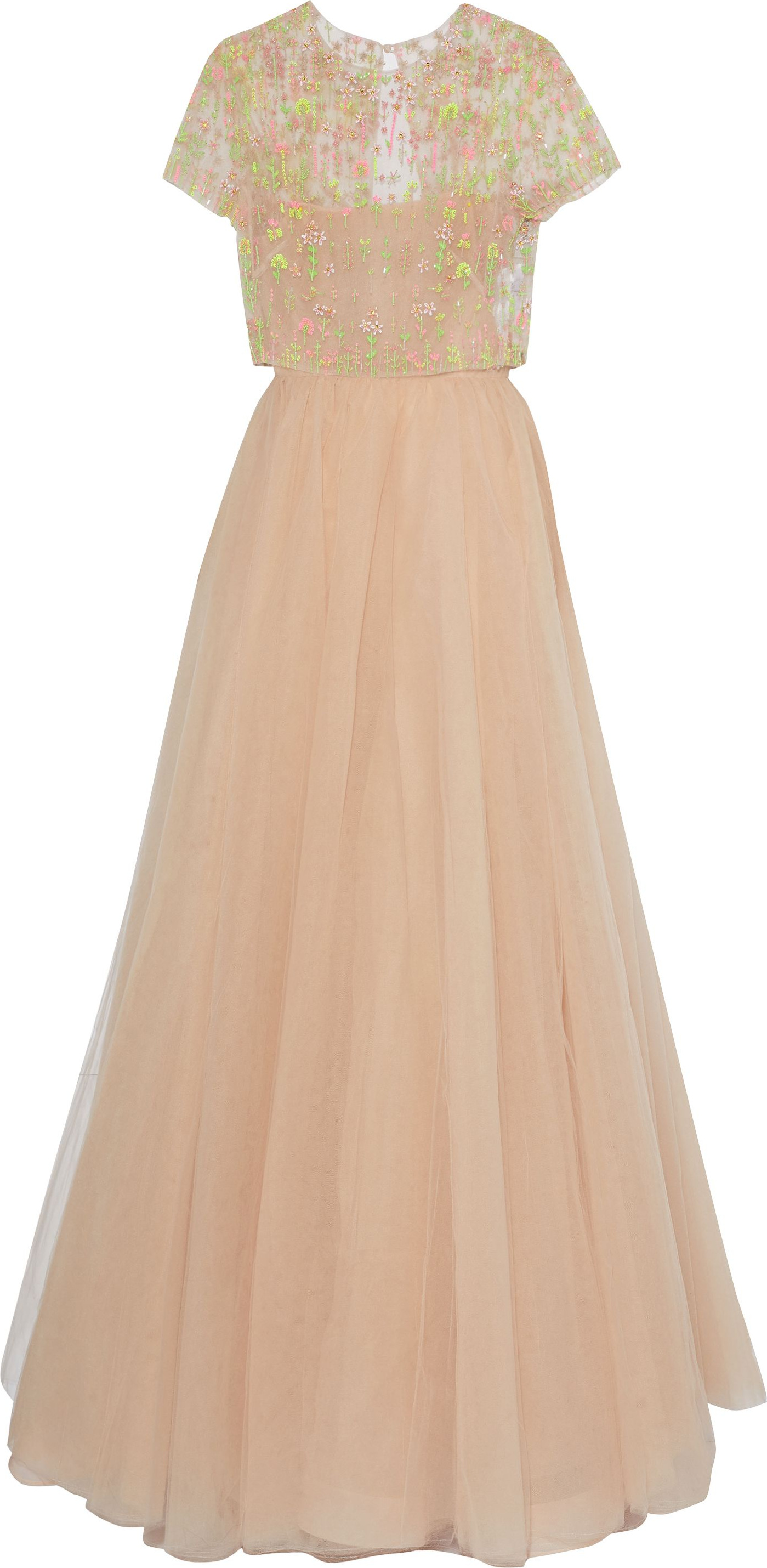 Valentino Bead-embellished pleated tulle gown - mkt