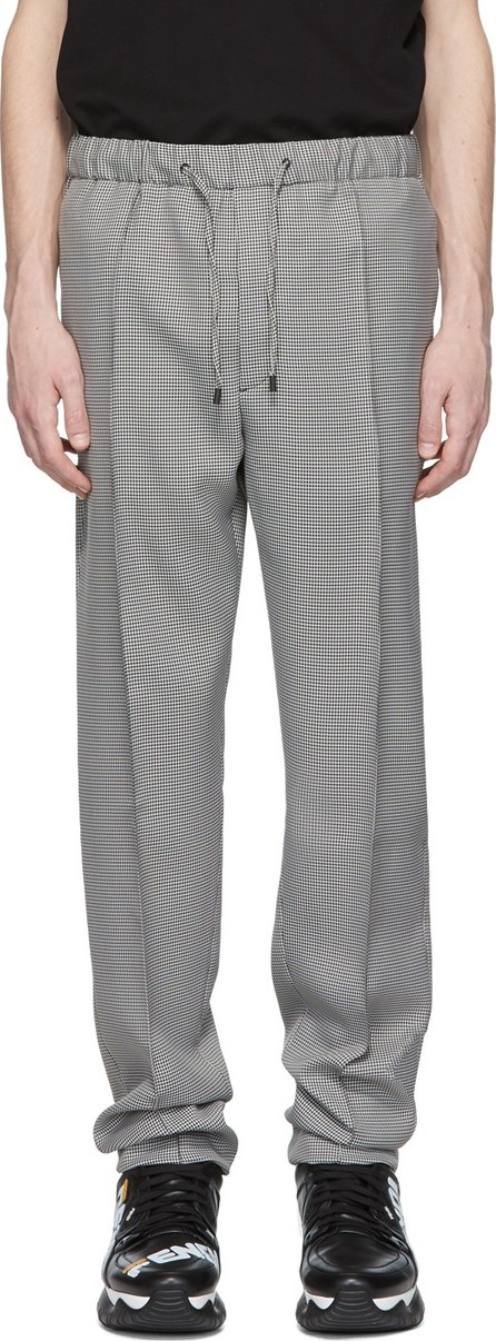 Fendi White & Black Micro Houndstooth Trousers