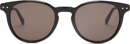 Bottega Veneta Intrecciato round-frame acetate sunglasses