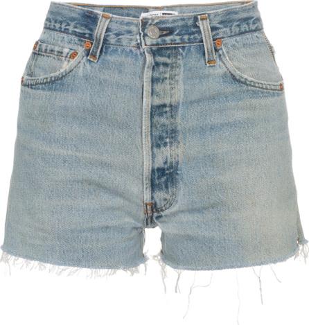 RE/DONE Side Zip Denim Shorts