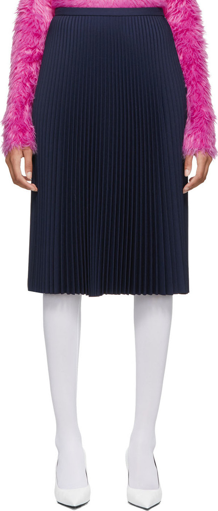Balenciaga Navy Pleated Skirt
