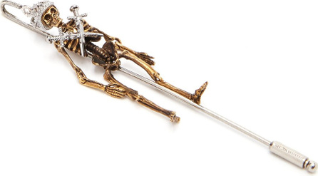 Alexander McQueen Queen skeleton tie pin