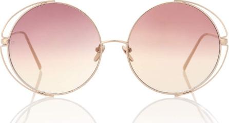 Linda Farrow 816 C8 round sunglasses
