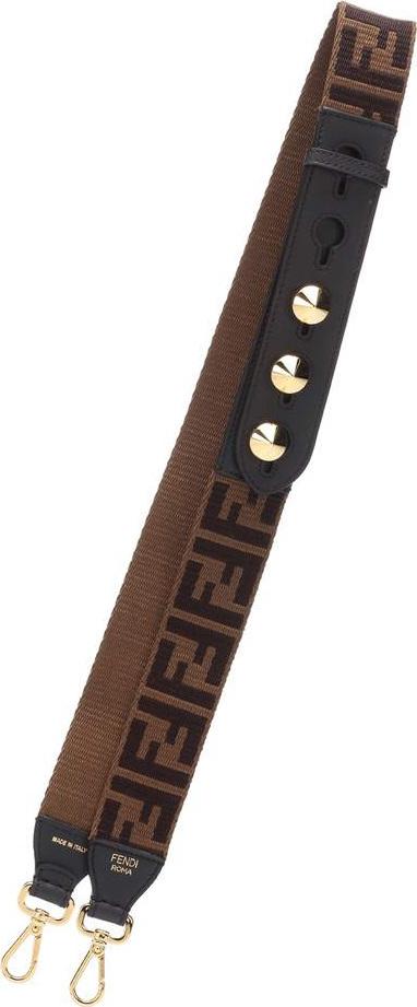 Fendi Strap You leather-trim bag strap