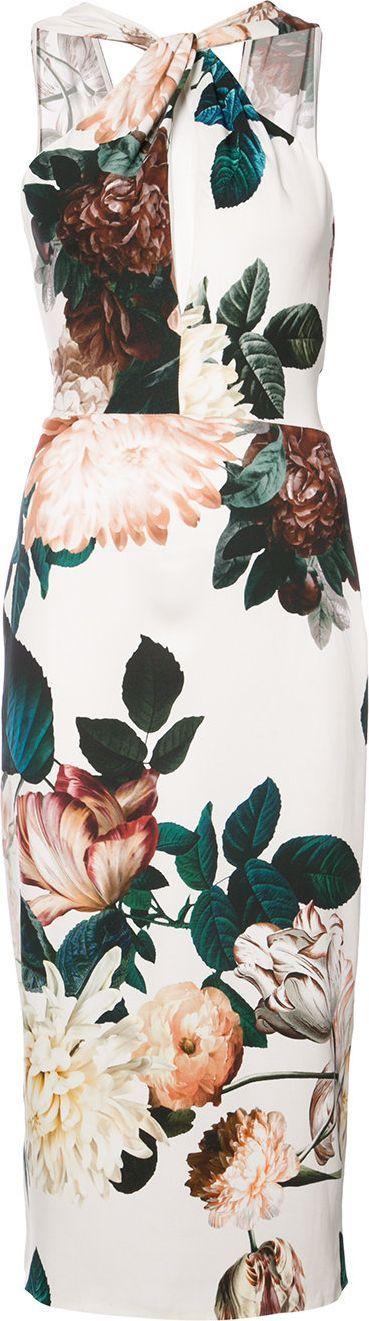 Sachin & Babi Ramani floral-print halteerneck dress