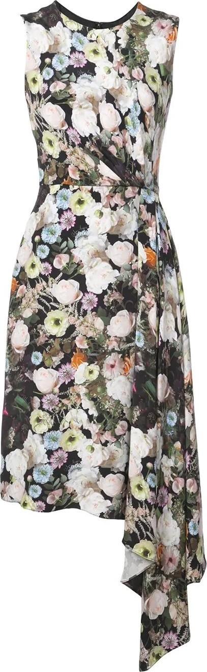Adam Lippes floral print midi dress