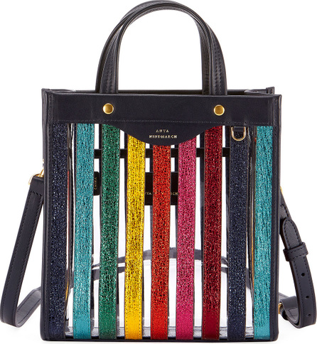 Anya Hindmarch Small Multicolor Striped Tote Bag
