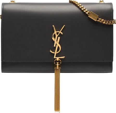 Saint Laurent Grey Kate medium leather shoulder bag