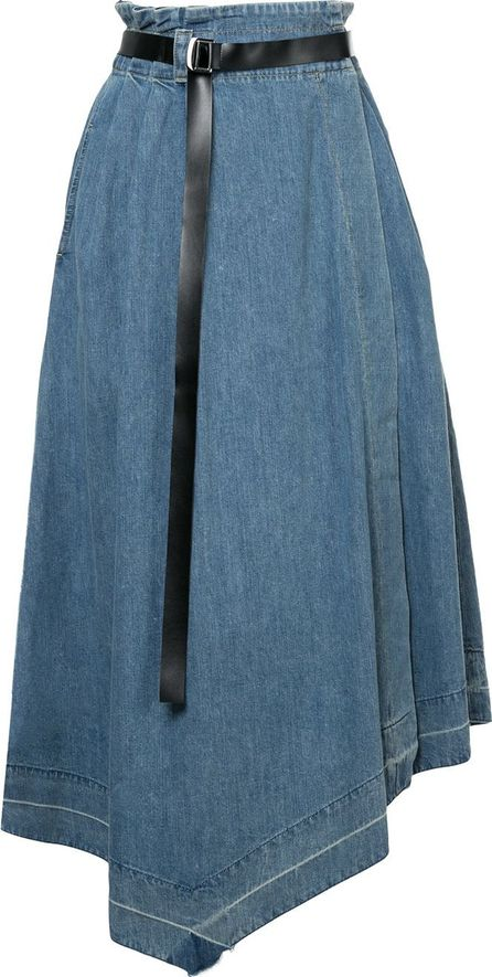 Aula asymmetric denim skirt