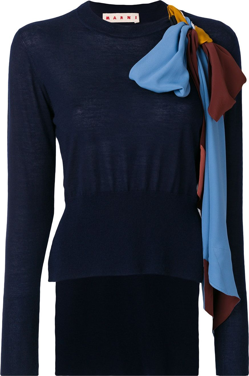 Marni - cashmere bow detail sweater